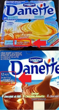 Danette Lot de 4 vs Lot de 12