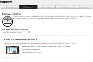 Archos Firmware 2.2