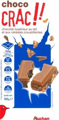 Chocolat Lait Cereales Auchan
