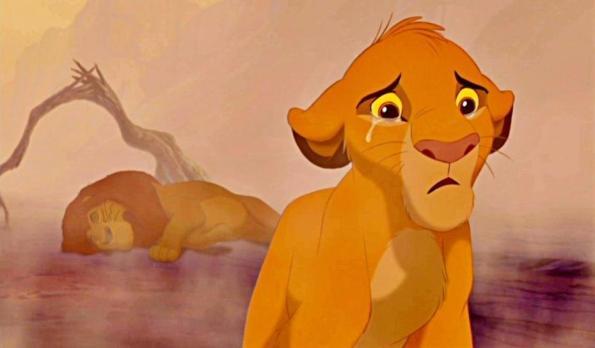 Simba pleure