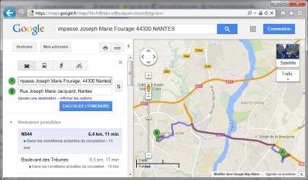 Itineraire GoogleMaps