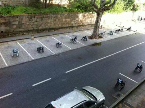 Manifestation handicapés Portugal