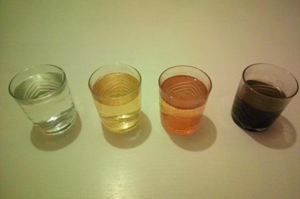 Couleur de l'eau électrolysée